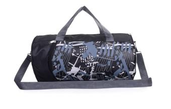 ASPIRE กระเป๋าฟิตเนสทรงสปอร์ตสะพายข้าง (ลายขาว)