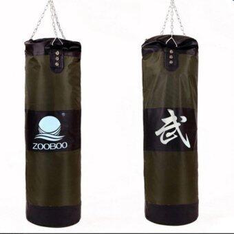 ถุงทรายล้างมวยเจาะถุงทรายห่วงโซ่การปฏิบัติการฝึกอบรมการต่อสู้ ZOOBOO 1อัน ( สีเขียว )