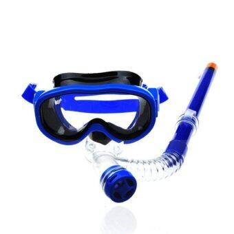 Harga Child Diving Mirror with A Snorkel Snorkel Set To Prevent Fog - intl