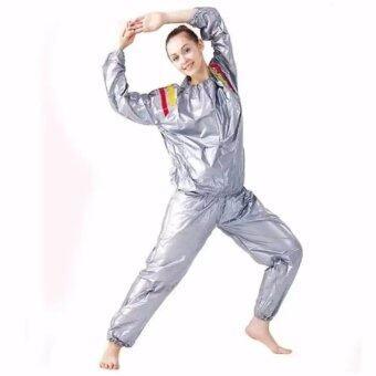 ชุดซาวน่าออกกำลังกายรีดเหงื่อ Sauna suit silver