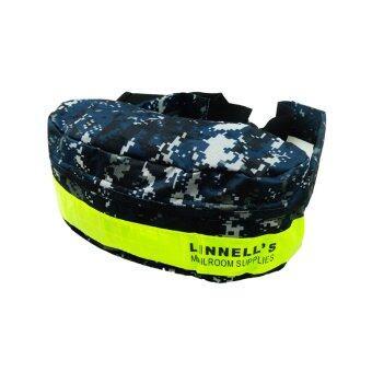 Linnell กระเป๋าคาดเอว/คาดอก มีแถบสะท้อนแสงสีเขียว ลายพราง รุ่น Ln-7704 ( สีกรม )
