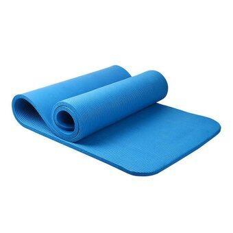 Daisiเสื่อโยคะNBR + แผ่นรองโยคะ 10 mm หนาพิเศษ ยาว 183 cm เกรดA สีน้ำเงิน