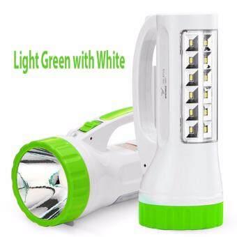 YAGE ไฟฉายแรงสูง สปอร์ตไลท์ LED super Zoom พร้อมโคมไฟ / สีเขียวอ่อน
