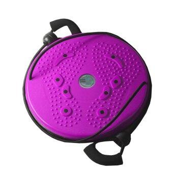 จานทวิส จานหมุนเอว แบบมีเชือก (สีชมพู) Twist Disc / Twist Plate / Twister