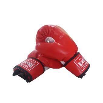 Astersports นวมชกมวยหนังPVC 6 ออนซ์ (สีแดง)