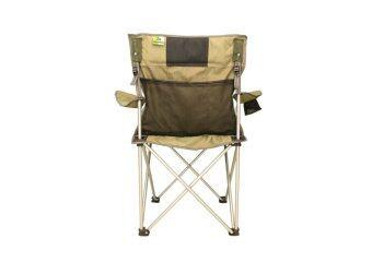Field and camping เก้าอี้รวบวางแขน ขนาด 52x52x43/93 สีเขียว /ดำ