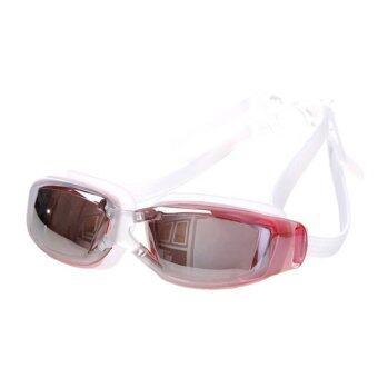 ideecraft แว่นตาว่ายน้ำ ดี สวย เท่ห์ swimming glasses Anti fog YUKE (สีแดง) Red Pink