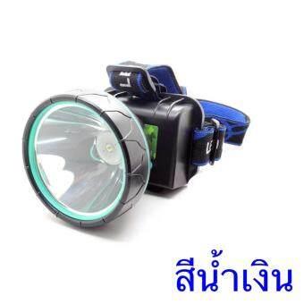 DIDO ไฟฉายคาดศีรษะ หลอด LED กำลังไฟ 80 W ใส่ถ่านได้ สีน้ำเงิน/blue 1pcs