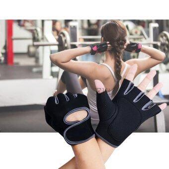 Elit ถุงมือฟิตเนส ถุงมือออกกำลังกาย ไซส์ L Fitness Glove Weight Lifting Gloves Gray