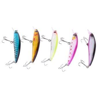 Harga 5pcs/bag Fishing Lures Crank Bait Hooks Fishing Lures Bait For Outdoor Fishing(B) - intl