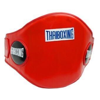 THAIBOXING เป้าป้องกันหน้าท้องหนังเทียม สีแดง
