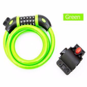 กุญแจล็อกจักรยานแบบสายเคเบิ้ล พร้อมกุญแจ Key Cable Bicycle Lock รุ่น TY566E(Green)