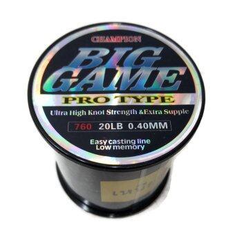 สายเอ็นโมโน BIGGAME เหนียวมาก ขนาด20 LB (รับแรง 10 kg.) สีดำ
