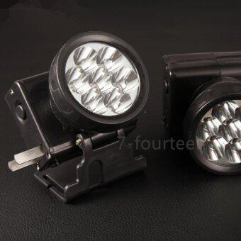 7-fourteen ไฟหรี่คาดศรีษะ ตราช้าง รุ่น307 LED (สีดำ)