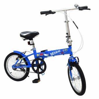 K-BIKE จักรยานพับได้ FOLDING BIKE 16 นิ้ว 1 Speed รุ่น 16K101 MBIKE ฟ้า