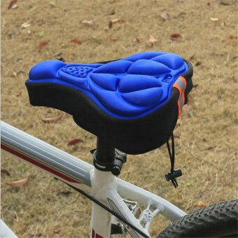 ilovebaby การขี่จักรยาน 3D เบาะอานจักรยานเบาะนุ่มสบายรถจักรยานเจลครอบรอง-สีน้ำเงิน