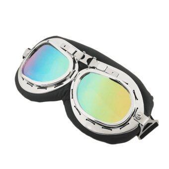 แว่นกันลมเลนส์สี สไตล์มอร์-ไซค์ช็อปเปอร์