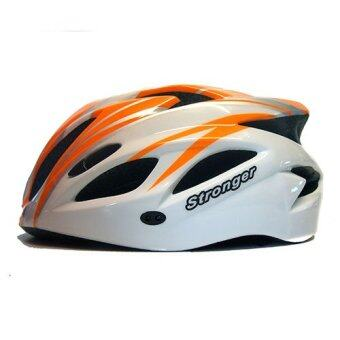 Stronger หมวกจักรยาน รุ่น V-105 (สีขาว/ส้ม)