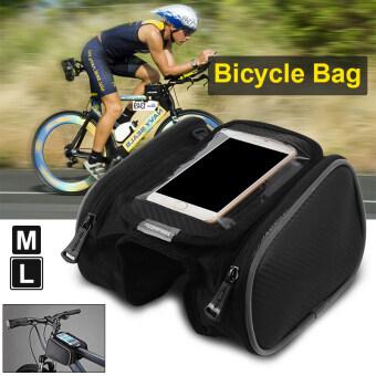 Roswheel รถจักรยานจักรยานยางหน้ากรอบเสื้อกระเป๋าตะกร้าสองโทรศัพท์ติดต่อ CS369