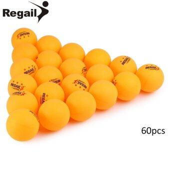 Harga REGAIL 60pcs Stand 3-star 40mm Practice Table Tennis Ping Pong Ball - intl