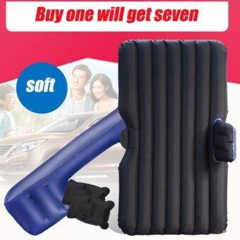 Inflatable Bed in Car เบาะเป่าลมนอนในรถยนต์ มีที่กันคอนโซลหน้า พื้นผิวกำมะหยี่นุ่มสบาย ทนทาน ยืดหยุ่นสูงใช้เป็นเบาะรองนั่งนอกสถานที่ เป็นแพลอยในน้ำได้ พร้อมที่สูบลมไฟฟ้า