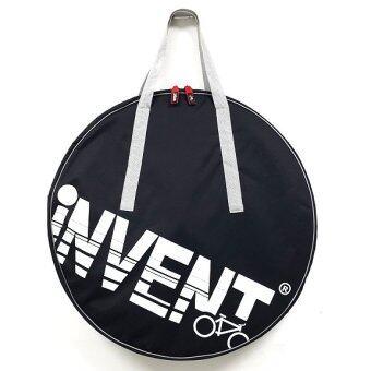INVENT กระเป๋าใส่ 1 ล้อ700C สีดำ สายหิ้วสีเทา