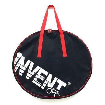 INVENT กระเป๋าใส่ 2 ล้อ700C สีดำ สายหิ้วสีแดง