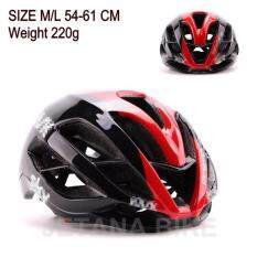 Jetana Bike หมวกจักรยาน หมวกกันน๊อคจักรยาน น้ำหนักเบา เสือหมอบ เสือภูเขา ใช้ได้ทั้งชายและหญิง ขนาด M/L (สีดำแดง)