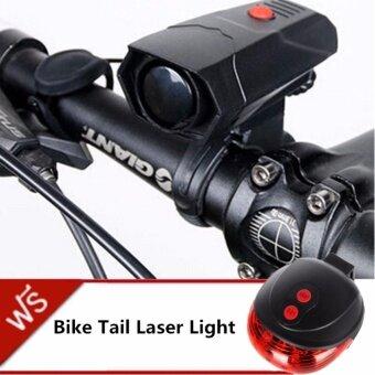 ซื้อ/ขาย JJ Bike Cycle Horns แตรไฟฟ้า ติดจักรยาน ให้เสียงดังชัดเจน ชนิด Lound and Clear Sound แถมฟรี ไฟเลเซอร์ท้ายรถจักรยาน Bike Light Tail Bicycle Laser รุ่น DW-681(Red)