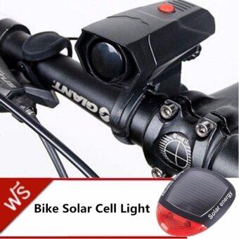 ซื้อ/ขาย JJ Bike Cycle Horns แตรไฟฟ้า ติดจักรยาน ให้เสียงดังชัดเจน ชนิด Lound and Clear Sound แถมฟรี ไฟท้ายจักรยานพลังงานแสงอาทิตย์ Bike Solar Cell Light รุ่น NO.909 (Black)