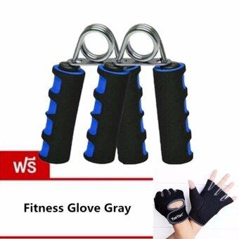 ราคา JJ อุปกรณ์บริหารมือและนิ้วมือ แฮนด์กริ๊ป x 2 แถมฟรี YUEYAN ถุงมือฟิตเนส ถุงมือออกกำลังกาย Fitness Glove Weight Lifting Gloves Gray( Int:S)