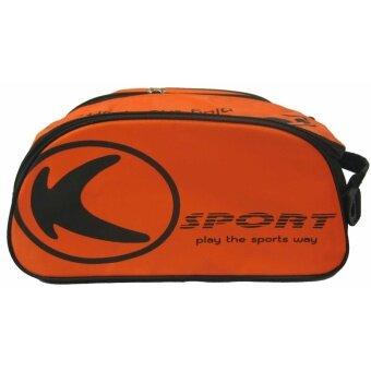 2561 กระเป๋าใส่รองเท้า กระเป๋าใส่อุปกรณ์กีฬา KIKA KB-012 ส้มดำ