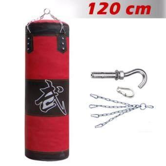 Kinglion Sport กระสอบทราย120ซม. กระสอบทรายแขวนกระสอบทรายผ้าใบพร้อมโซ่+ตะขอเกี่ยว+ตัวล็อค กระสอบทรายเปล่ากระสอบทรายซ้อมมวย กระสอบทรายชกมวยพร้อมนวม 120CM Boxing Punch Bag /Heavy Bag Boxing Equipment