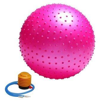 ราคา Kinglion Sport 55CM ลูกบอลโยคะผิวหนามสีชมพู โยคะบอล ลูกบอลออกกําลังกาย ฟิตบอล ลูกบอลฟิตเนส ฟิตเนสบอล ยิมบอล อุปกรณ์ฟิตเนส ออกกําลังกายลดพุง Pink Fitball Fitness Ball Yoga Ball Massage Ball
