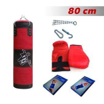 ราคา Kinglion Sport ชุดกระสอบทรายแขวน+แบ็คชก+ที่รัดมือ+ที่รัดข้อมือ 80CM กระสอบทรายซ้อมมวย กระสอบทรายผ้าใบพร้อมโซ่และตะขอเกี่ยว กระสอบทรายชกมวยพร้อมนวม Boxing Punch Bag / Heavy Bag