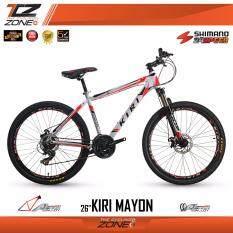KIRI จักรยานเสือภูเขา อลูมิเนียม 26 นิ้ว / เกียร์ SHIMANO 24 สปีด / รุ่น MAYON (สีขาว/แดง)