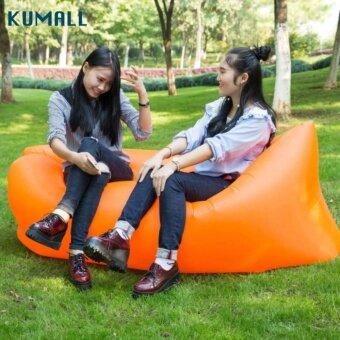 2561 KUMALL Air Sofa โซฟาลม โซฟากล้วย ที่นอนเป่าลม เตียงลมแบบพกพา กลางแจ้งกันนำ้ พร้อมกระเป๋าสะพาย Lazysofa Original Hangout