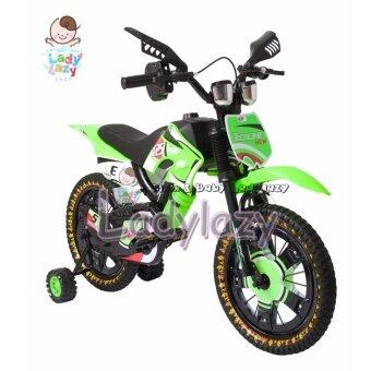 ladylazyจักรยานวิบาก Motorcross ล้อไฟ 16\ No.125 สีเขียว