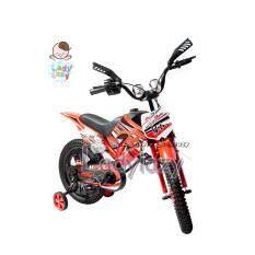 "ladylazy จักรยานวิบาก motorcross No.710 12"" สีแดง"