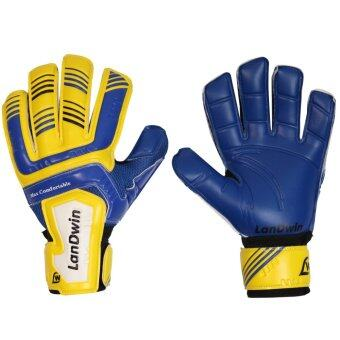 LANDWIN ถุงมือโกล์วฟุตบอล Football Goalkeeper Gloves Max ComfortFingersave YL/BL