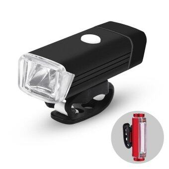 LED Bicycle Light Set USB Rechargeable Bike Front Light and Rear Light Taillight Waterproof and Easy to Mount for Safe Cycling - intl