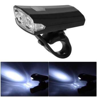 ไฟหน้าจักรยาน ไฟ LED USB ชาร์จได้ (สีดำ)