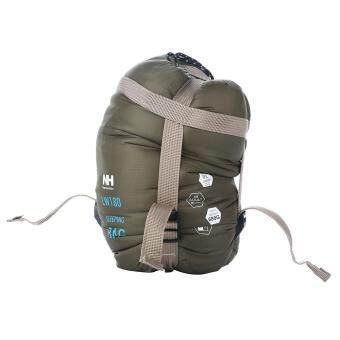 leegoalCompressible Outdoor Camping Sleeping Bag Envelope Sleeping Bag(Army Green) (image 2)
