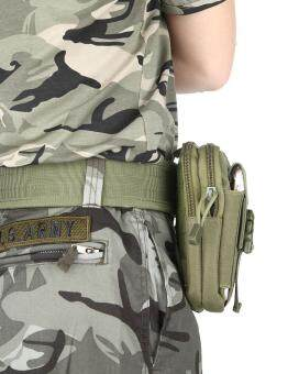 leegoalMultifunction Tactical Molle Pouch EDC Utility Gadget Belt Waist Bag With Cell Phone Holster Holder For Running Hiking Sporting - Green (image 1)