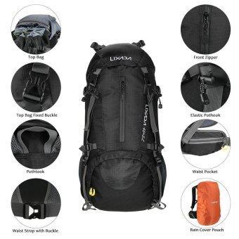 Lixada 50L กันน้ำกีฬากลางแจ้งเดินป่าตั้งแคมป์ท่องเที่ยว กระเป๋าเป้สะพายหลังแพ็คปีนเขา Backpacking Trekking BAG เป้สะพายหลังพร้อม rain COVER