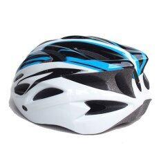 หมวกจักรยาน Macanic (สีขาว/ฟ้า/ดำ)