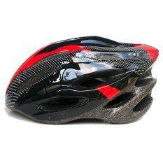 หมวกจักรยาน Macanic-V-101 (สีดำ/แดง)