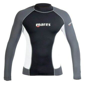 Mares Men's Trilastic Watersports Rash Vest / Long Sleeve - Black/White