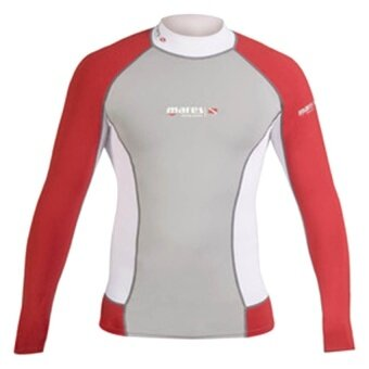 Mares Rash Guard Long SleeveDC - Red