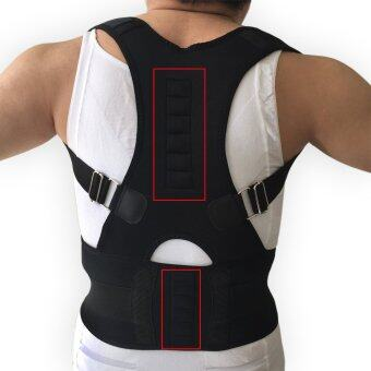 Men's Posture Corrector Orthopedic Posture Corset Back Support Belt Back Brace Support Men Back Straightener Round Shoulder Black - intl